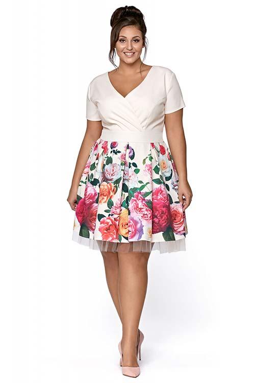 Sukienki dla puszystych dam – oferta Kartes Moda